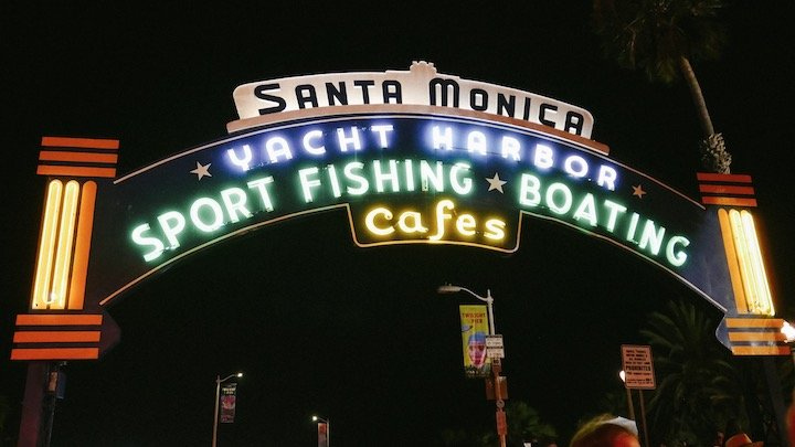 Santa Monica Pier Iconic Sign