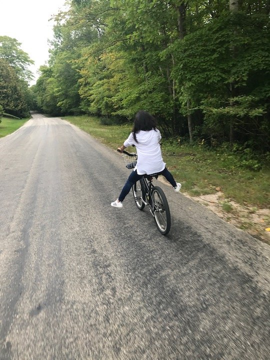 Bike riding Washington Island