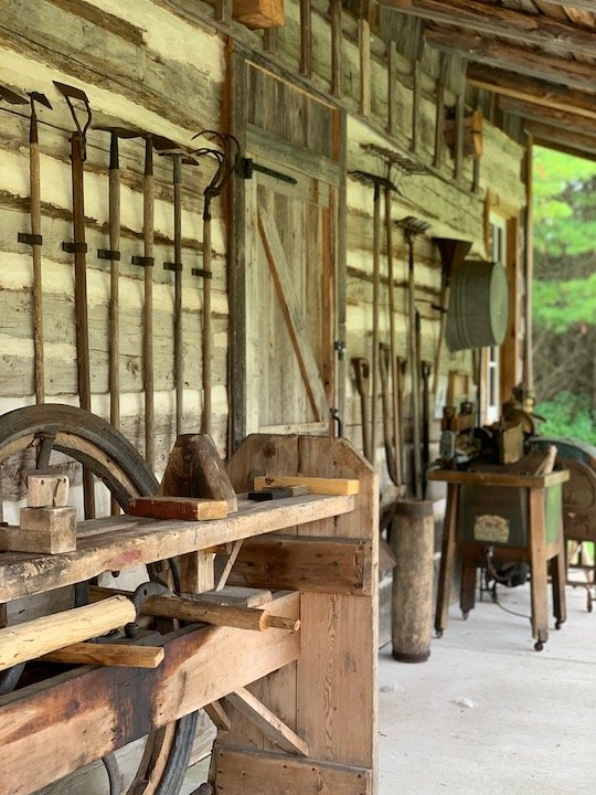 Old Farmhouse Tools | Crossroads at Big Creek Door County